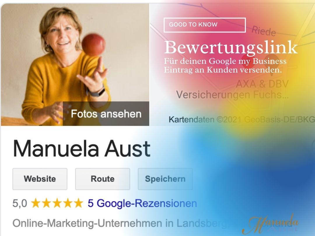 Google my Business Bewertungslink erstellen