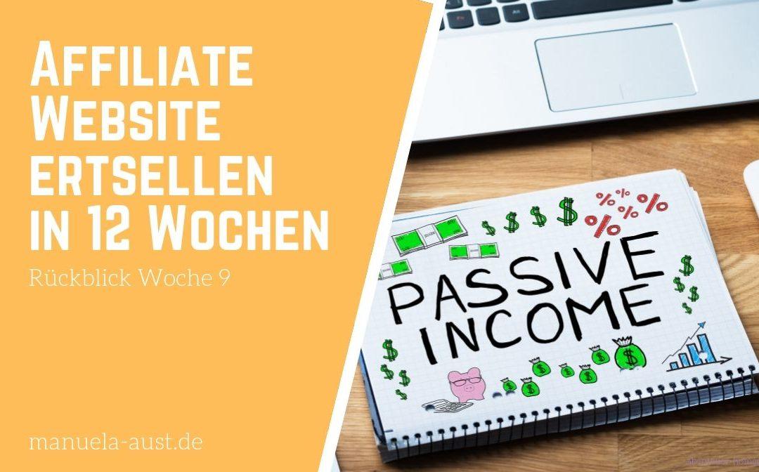Affiliate Nischen Website aufbauen in 12 Wochen: der Alltag beginnt