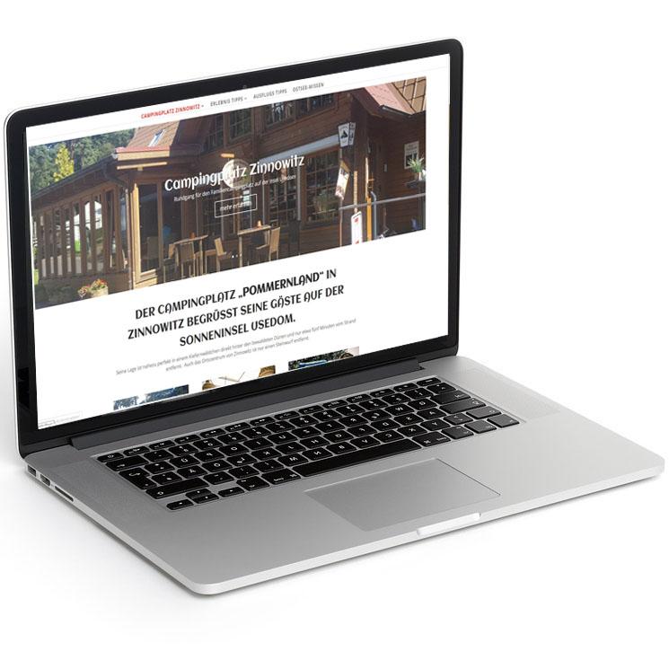 Tourismus Website als Informations- und Kontaktseite