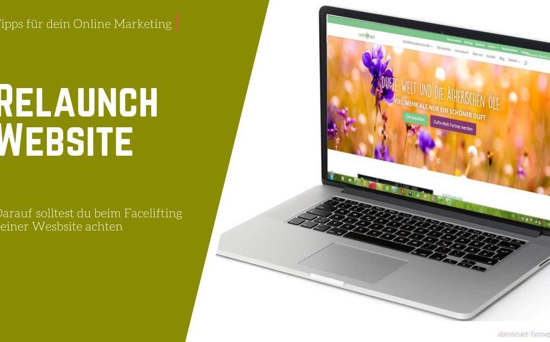 Website Relaunch – darauf solltest du unbedingt achten