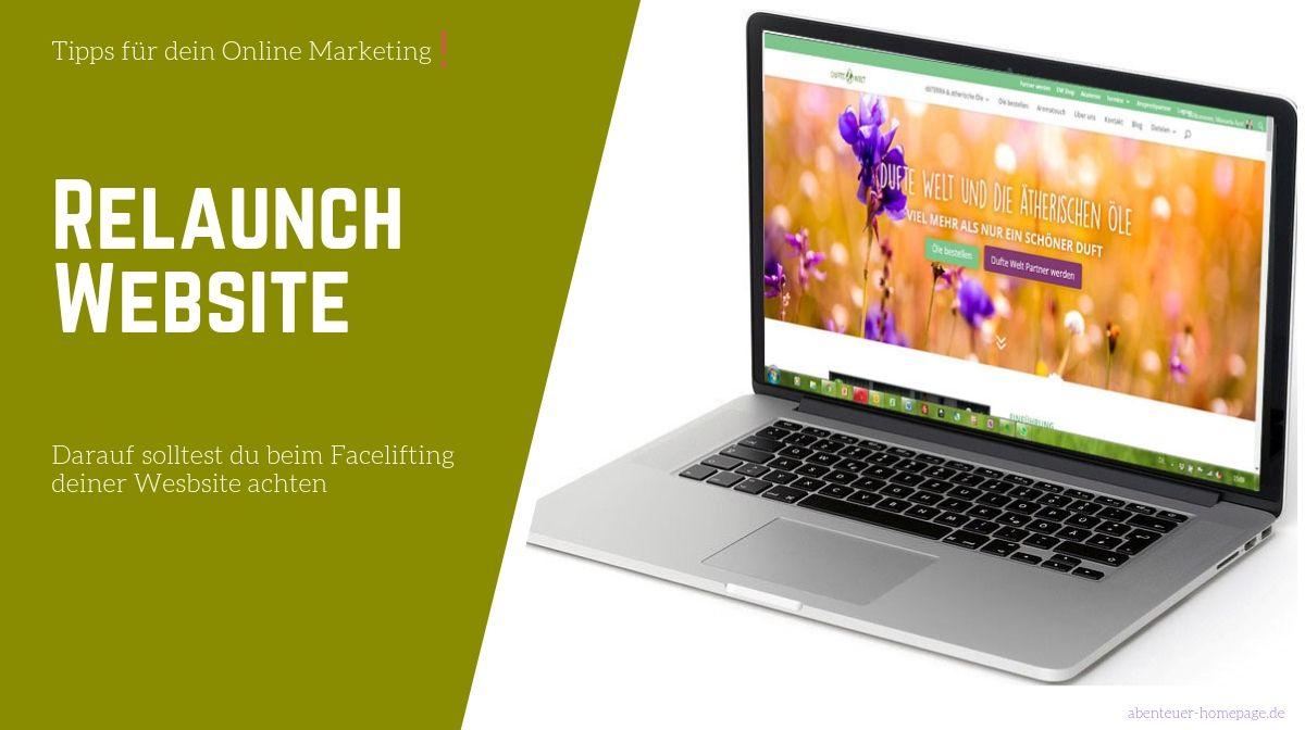 Website Relauch - drauf solltest du achten