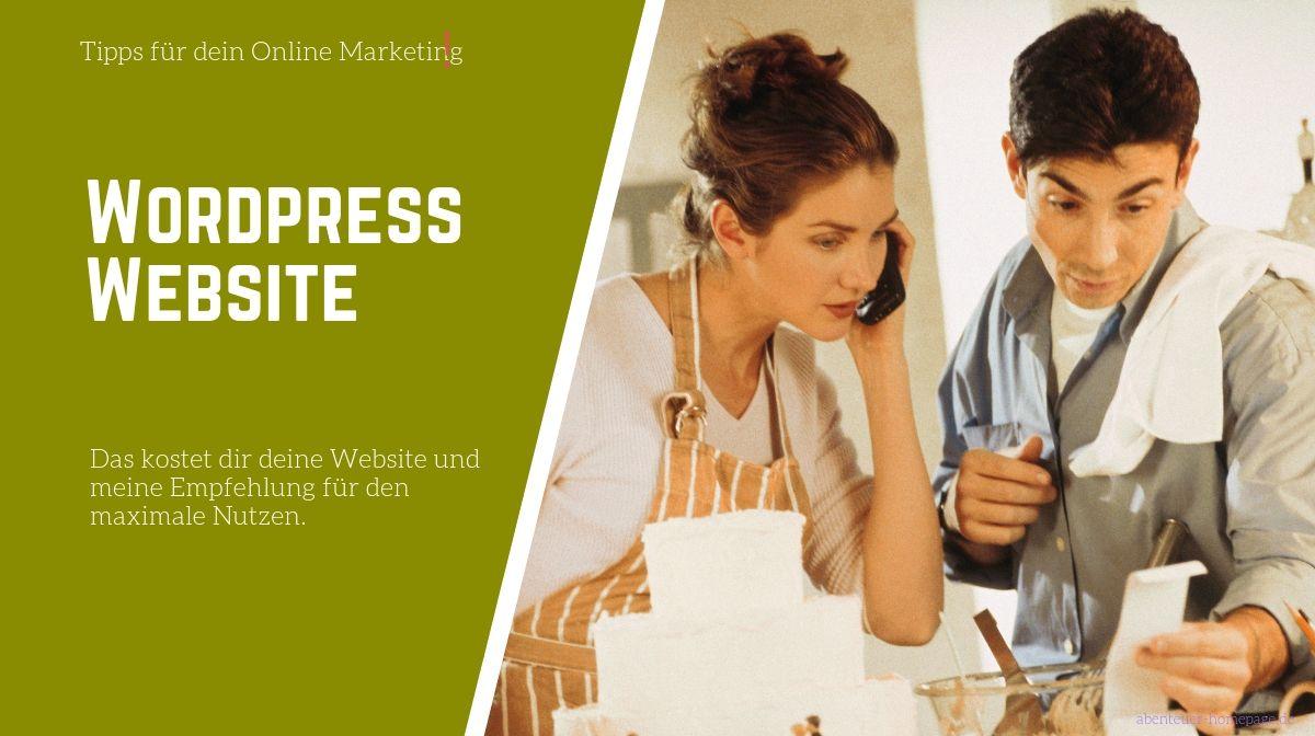 Wordpress Website - was kosten das und wir geht das